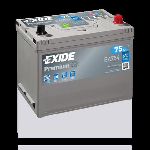 Exide Premium 75Ah EA754