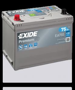 Exide Premium 75Ah EA755