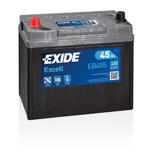 Exide Excell 45 Ah EB455