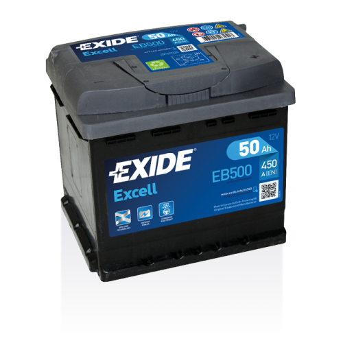 Exide Excell 50 Ah EB500
