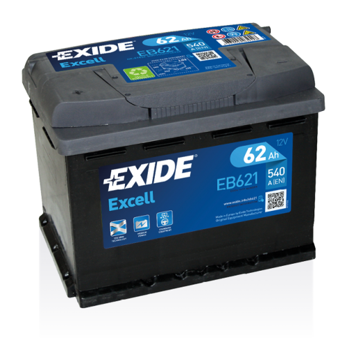 Exide Excell 62 Ah EB621