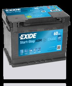 Exide 60 Ah EK600 Start Stop