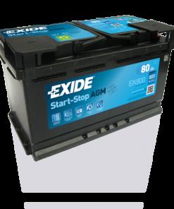Exide 80 Ah EK800 Start Stop